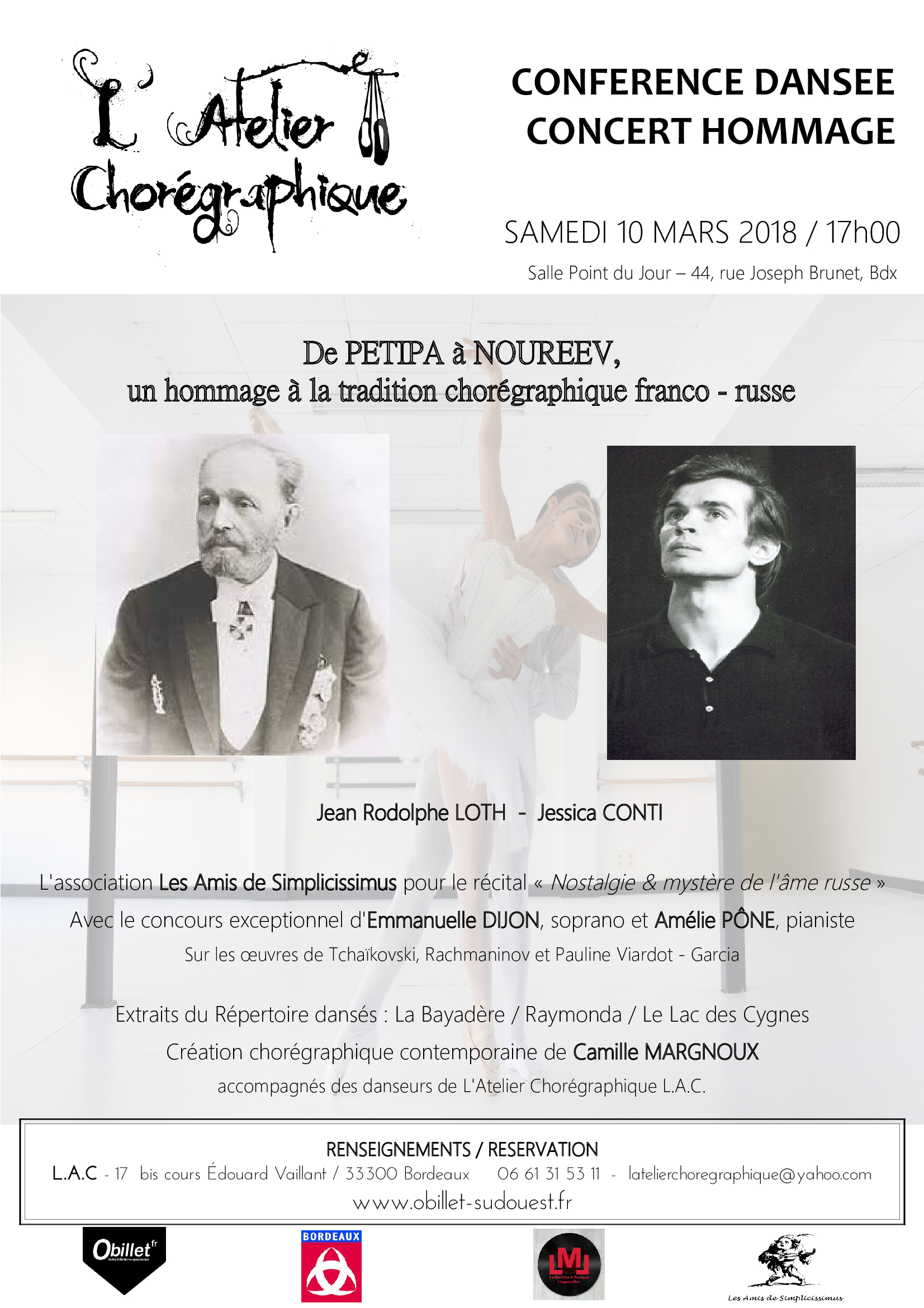 BICENTENAIRE PETIPA / Samedi 10 Mars 2018 - 17h00